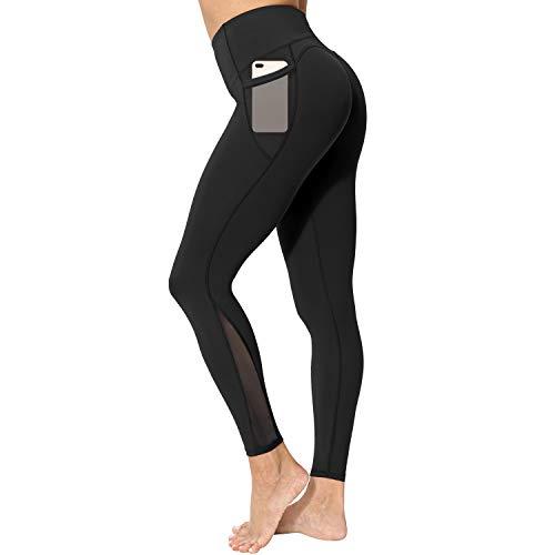neppein Leggings Deportivos para Mujer, Cintura Alta Leggings Mallas con Bolsillos Pantalones de Yoga...