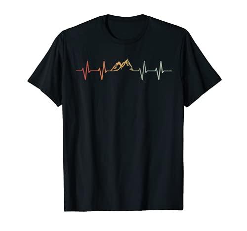 Diseño de escalada de arco iris natural para hombres Camiseta