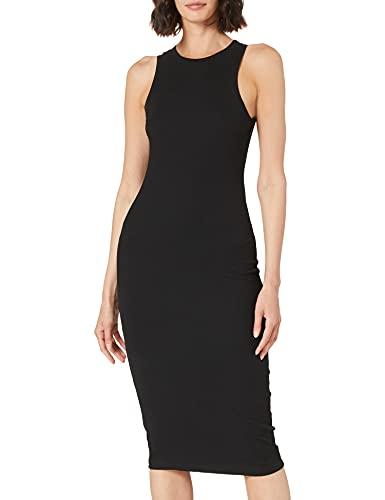 Vero Moda Vmlavender SL Calf Dress VMA Noos Vestido, Black, L para Mujer
