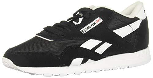 Reebok Classic Nylon, Sneaker Mujer, Black/Black/White, 38.5 EU