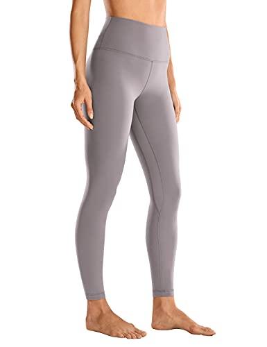CRZ YOGA Mujer Deportivos Capris Yoga Pantalones Elásticos Cintura Alta Leggings - 63cm Roca Lunar - 63cm 44