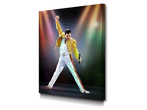 Foto Canvas Cuadro Freddie Mercury Decoración Pared   Lienzos De Arte Moderno para El Hogar   30 x 40 cm...