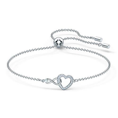 Swarovski Pulsera Swarovski Infinity Heart, blanco, baño de rodio