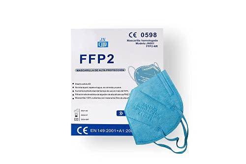 Mascarillas FFP2 Desechables colores 10 pcs Homologadas de 5 Capas de Filtro,Sin válvula Certificado Alta...
