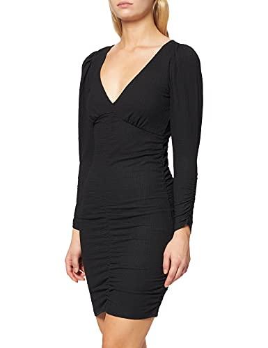 Springfield Vestido Corto Peto, Negro, XL para Mujer