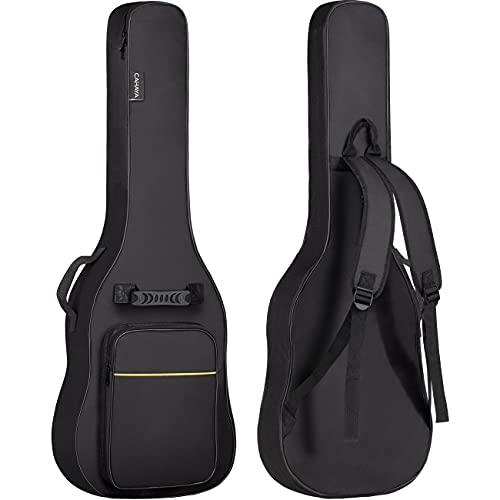 CAHAYA Bolsa Guitarra Electrica Acolchada de 6mm para Guitarra Electrica con Un Bolsillo Frontal para Libros...