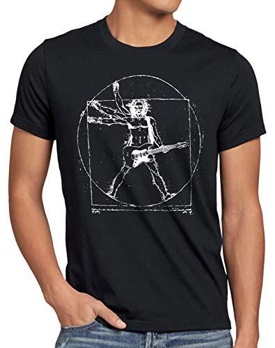 Style3 Da Vinci Rock, Camiseta para Hombre, Negro, M