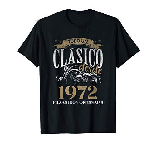 Nacido En 1972 - 49 años Cumpleaños Moto Biker Hombre Motero Camiseta