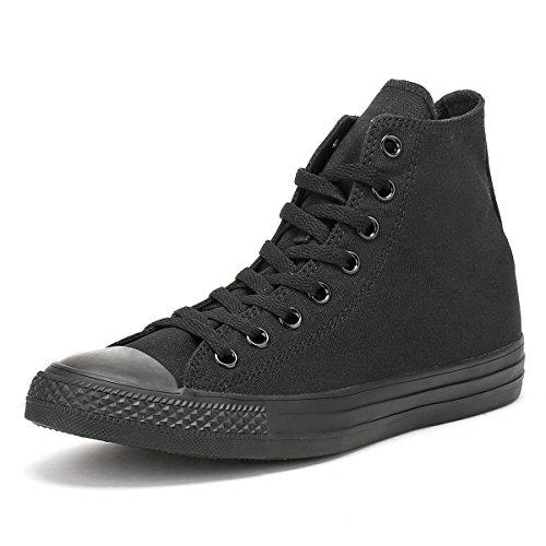 Converse All Star Hi Canvas Zapatillas Negras Monocromas-UK 7.5