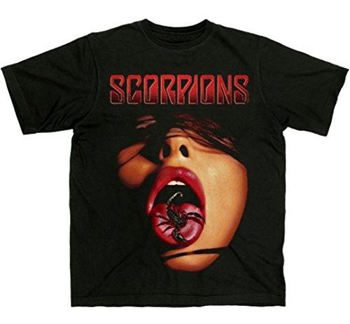 I-D-C CID Scorpions-Tongue Camiseta, Negro, M para Hombre