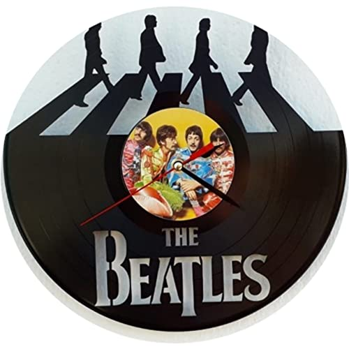 Reloj de The Beatles, Fabricado en Disco de Vinilo.
