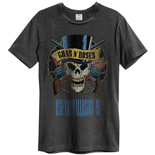 Amplified Guns n Roses - Use Your Illusion - Camiseta de carbón para hombre, gris oscuro, L