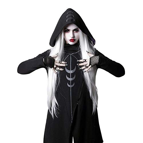 Aibayleef Sudadera con capucha negra Punk Gótico, sobrevestido medieval Blazer con bolsillos, sudadera Dark...