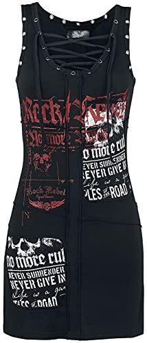 Rock Rebel by EMP Stay A Little Longer Mujer Vestido Corto Negro L