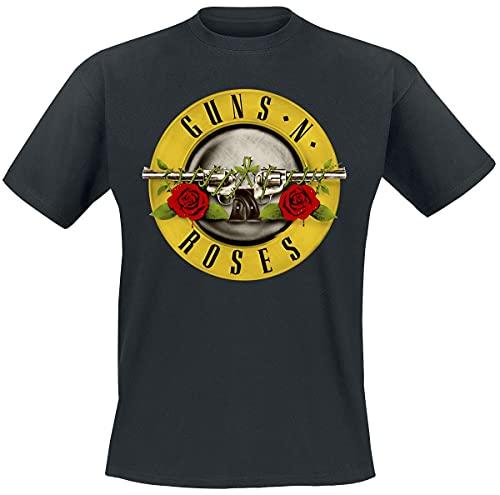 Unbekannt Classic Logo - Camiseta para hombre, Negro, XX-Large