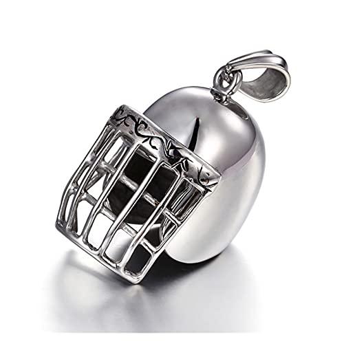 WDSFT Collar Delicado para Mujer Collar Colgante para Hombres, Cuello de Acero Inoxidable de Titanio Hiphop...