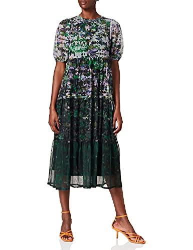Desigual Vest_Perugia Vestido Casual, Negro, XL para Mujer