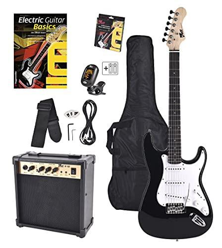 Volt EG100 E-Guitar Set - Set básico con guitarra eléctrica, amplificador, guía de aprendizaje y accesorios