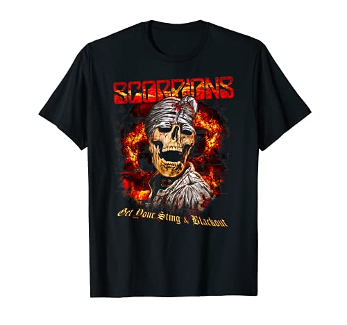 Scorpions – Blackout Skull Camiseta