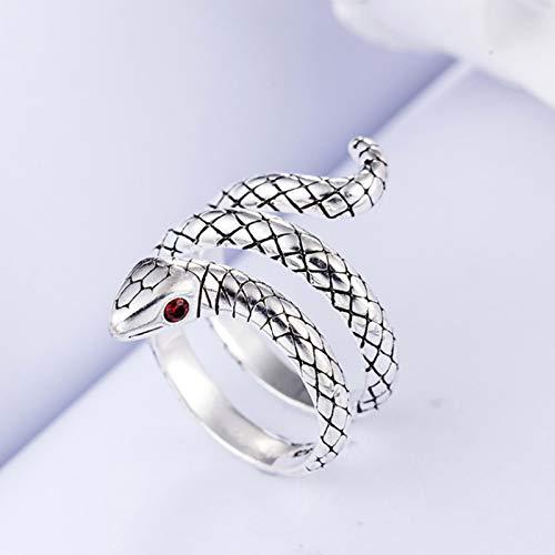 Mayelia Anillos de serpiente de plata ajustable anillo abierto Animal nudillo anillos para mujeres y niñas
