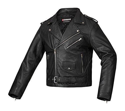 Bohmberg Premium- Chaqueta pesada de motociclista 100% cuero duradero para hombre - XL