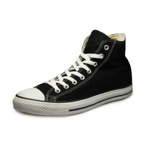 Converse All Star Hi Canvas Zapatillas Negras-UK 8.5