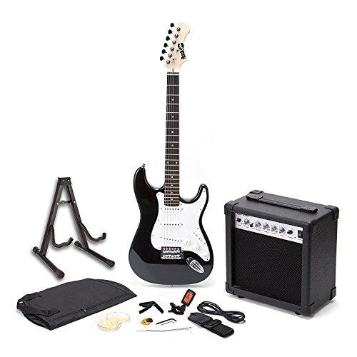 RockJam Superkit Guitarra eléctrica de tamaño completo con amplificador de guitarra, Cuerdas de guitarra,...