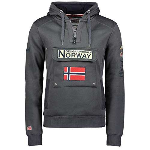 Geographical Norway - Sudadera DE Hombre GYMCLASS Gris Oscuro L