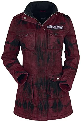 Rock Rebel by EMP Ladies Field Jacket Mujer Chaqueta de Invierno Rojo XL