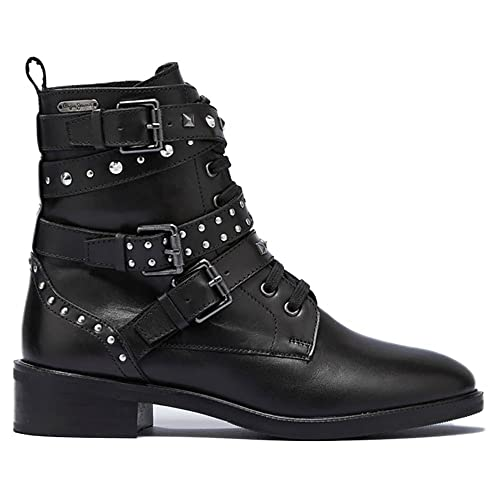 Pepe Jeans ORSETT Rock, Bota Moderna Mujer, 999 Negro, 41 EU