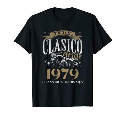 Nacido En 1979 - 42 años Cumpleaños Moto Biker Hombre Motero Camiseta