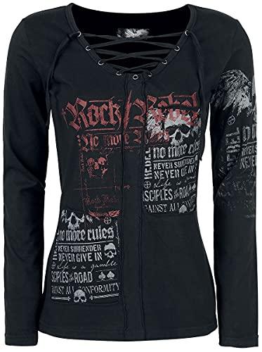Rock Rebel by EMP Stay Awake Mujer Camiseta Manga Larga Negro XS