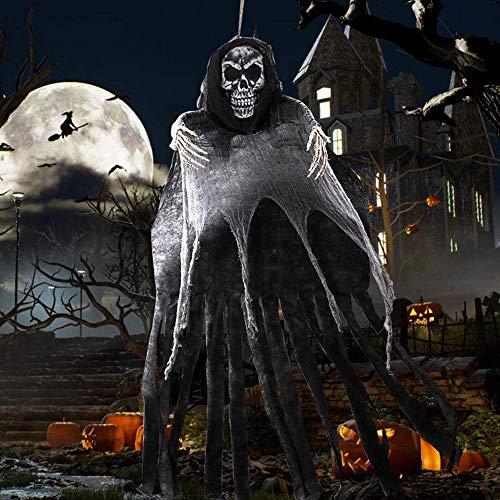 OurWarm - Esqueleto para decoración de Halloween con Forma de Fantasma Colgante, Grande para Colgar, con...
