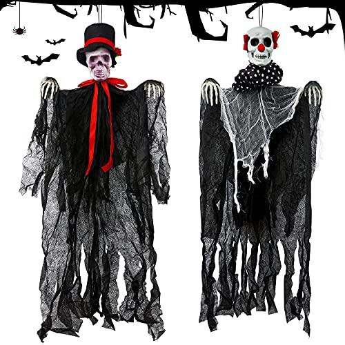 Halloween Decoracion Terror, Esqueleto Halloween Decoracion Colgante Grande,Halloween Decoracion Fantasma,...