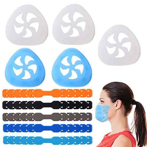 Soporte para mascarillas, estructura de apoyo interno para proporcionar más espacio y una respiración...