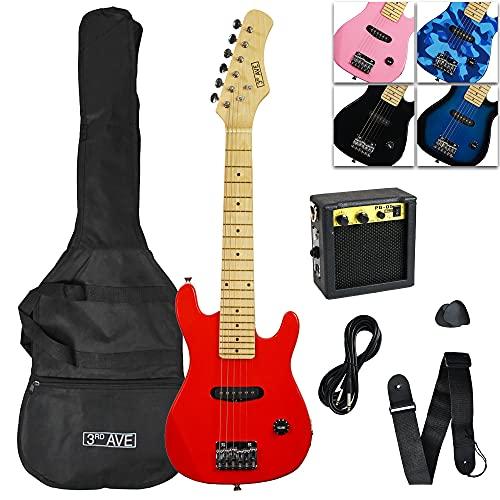3rd Avenue Pack de guitarra acústica con Cutaway Junior para principiantes con amplificador, cable, funda de...