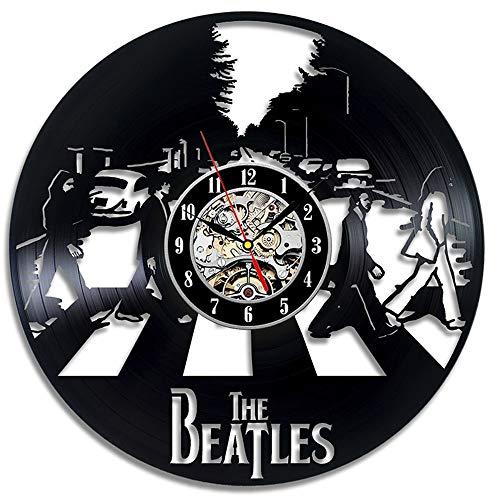 LittleNUM Disco de Vinilo Reloj de Pared The Beatles Creativo Reloj de Pared de la Vendimia de decoración del...