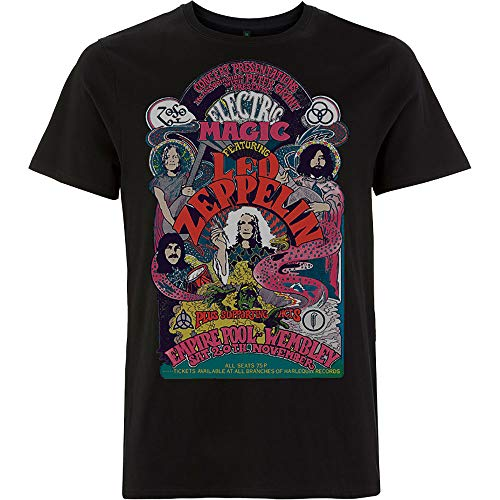Rock Off Led Zeppelin Full Colour Electric Magic Oficial Camiseta para Hombre (Medium)