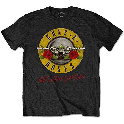 Guns & Roses Guns N' Roses Not in This Lifetime Tour with Back Print Camiseta, Negro, XL para Hombre