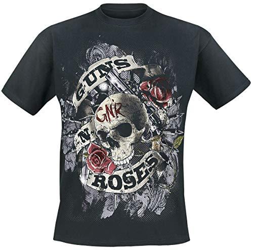 Guns N' Roses Firepower Hombre Camiseta Negro L, 100% algodón, Regular