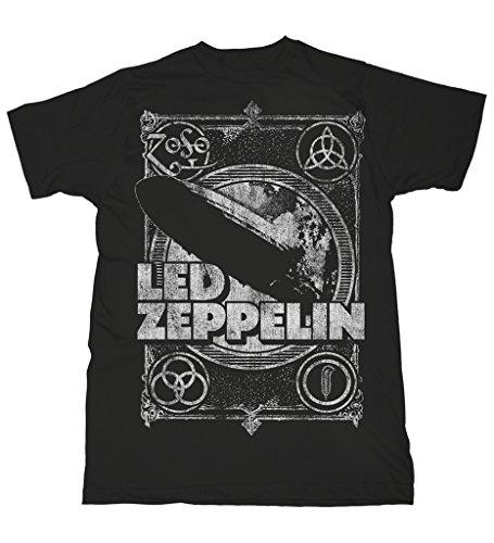 Led Zeppelin Shook Me Jimmy Page Rock Oficial Camiseta para Hombre (X-Large)