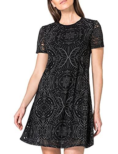 Desigual Vest_Nilo Vestido Casual, Negro, S para Mujer