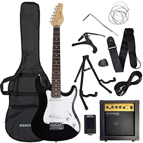 3rd Avenue Conjunto de guitarra eléctrica de iniciación de 3/4 con amplificador, afinador, cable, soporte,...