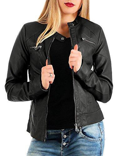 Only Bandit PU Biker Chaqueta, Negro (Black C N 010), 36 (S) para Mujer