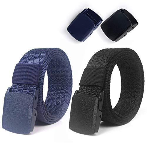 Lalafancy 2 Pack Cinturones de Nylon Militares Tácticos Militares Cinturón de Cintura Transpirable Cinturón...