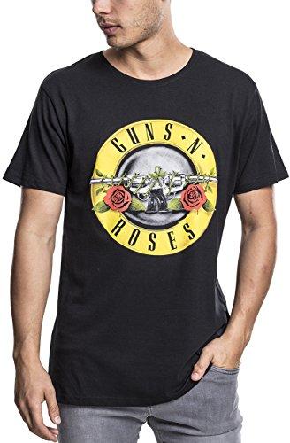 MERCHCODE Guns N Roses Classic Logo–Camiseta para Hombre, Color Negro, Cuello Redondo, tamaño XS a 3x...