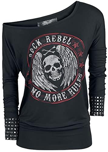 Rock Rebel by EMP Fast and Loose Mujer Camiseta Manga Larga Negro L